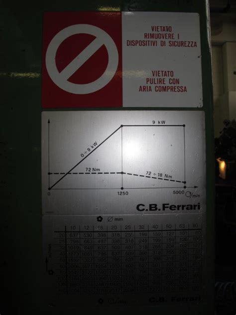 C B Ferrari by Centro Di Lavoro Verticale C B Ferrari B 13 Usato Vendo