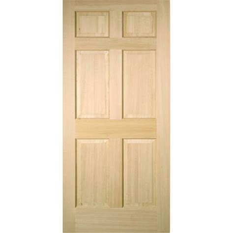 Interior Slab Doors Shop Reliabilt 6 Panel Fir Slab Interior Door Common 36 In X 80 In Actual 36 In X 80 In At