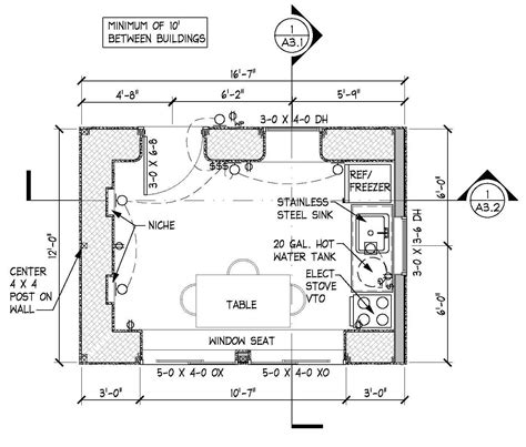 floor plan kitchen learn to build a tiny home with straw bales hands on