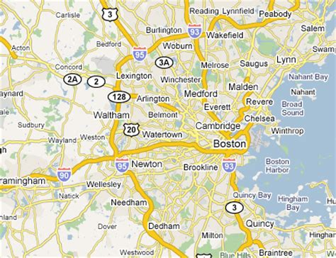 Map Of Boston Suburbs by Map Of Boston Area Related Keywords Amp Suggestions Map Of