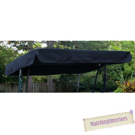 swing seat canopy cover navy water resistant 3 seater replacement canopy for