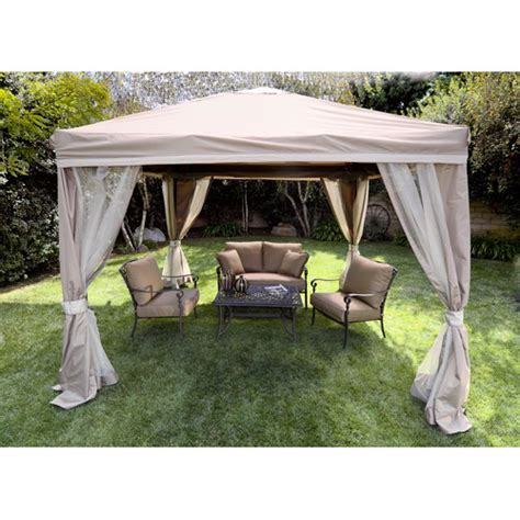 Pitched Roof Patio Gazebo 10 X 10 Walmart Com Patio Gazebo Walmart