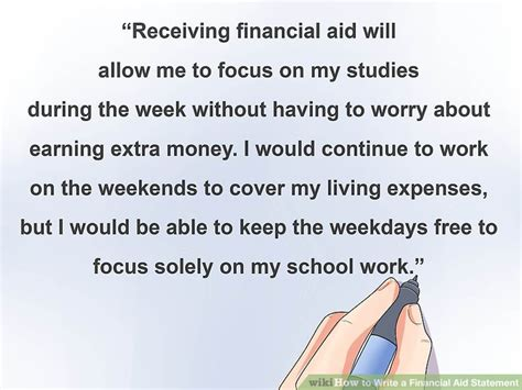 Financial Assistance To Begin A 3 ways to write a financial aid statement wikihow