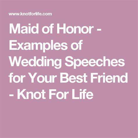 Maid of Honor   Examples of Wedding Speeches for Your Best