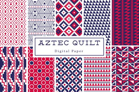 Aztec Quilt Pattern by Aztec Quilt Backgrounds Patterns On Creative Market