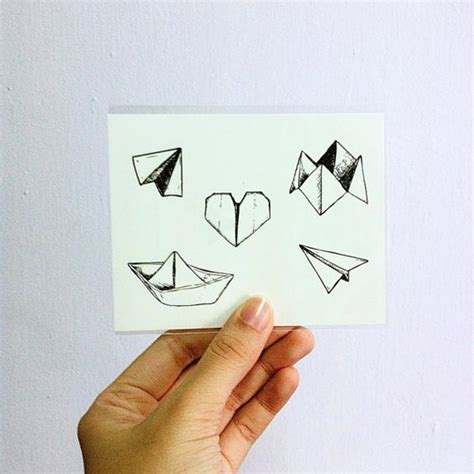 tattoo paper designs temporary tattoos set of 5 designs paper boat