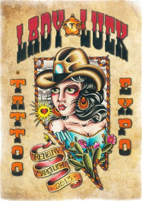 lady luck tattoo designs 11th annual luck arts expo conventions big