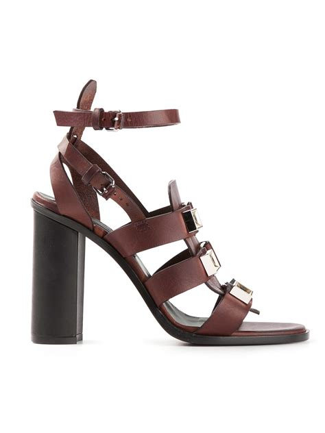 proenza schouler sandals proenza schouler studded gladiator sandals in brown lyst