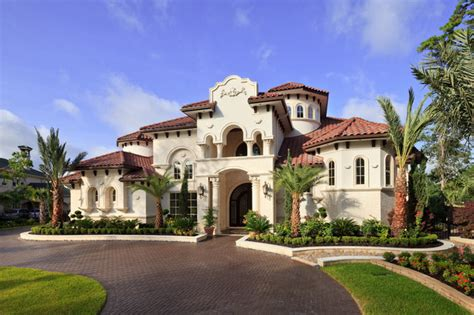 mediterranean custom homes woodlands custom home mediterranean exterior houston