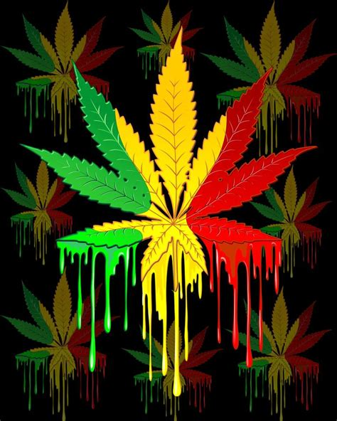 marijuana colors saatchi marijuana leaf rasta colors paint