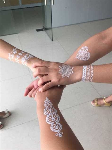 henna temporary tattoo white white lace henna bracelets tattooforaweek temporary