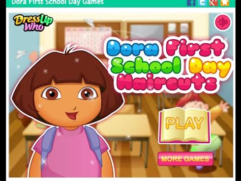 dora hairstyles games dora the explorer online games dora first school day