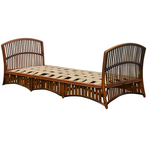 rattan daybed antique ypsilanti stick wicker daybed at 1stdibs