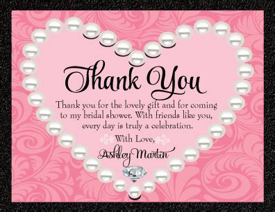 bridal shower thank you note wording gift card bridal shower thank you quotes quotesgram