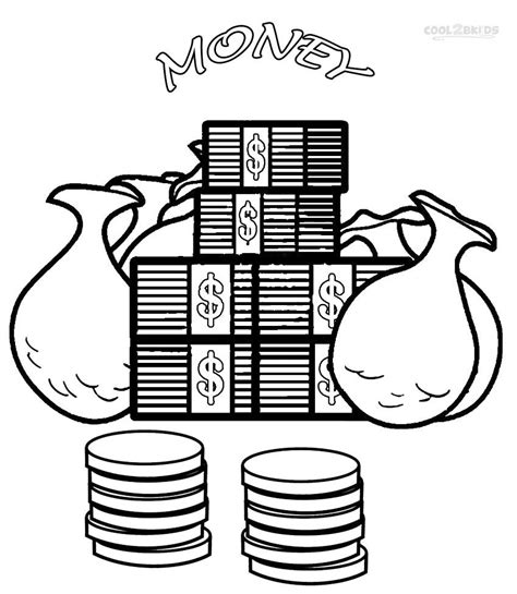 Coloring Pages With Money | money coloring page coloring home