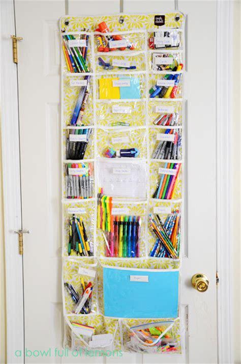 The Door School Supply Organizer by Diy Back To School Homework Stations Landeelu