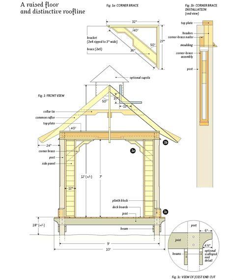 gazebo roof plans rectangular gazebo plans gazebo ideas