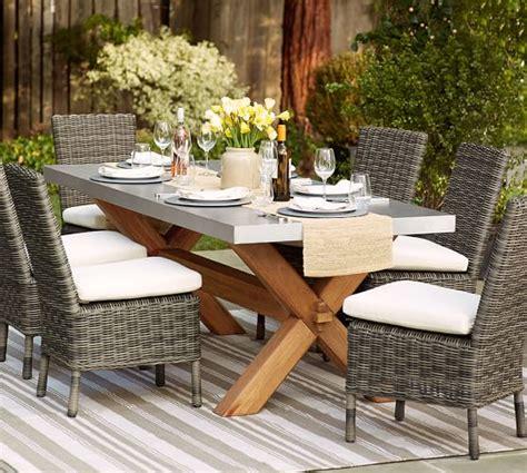 abbott zinc top rectangular dining table huntington