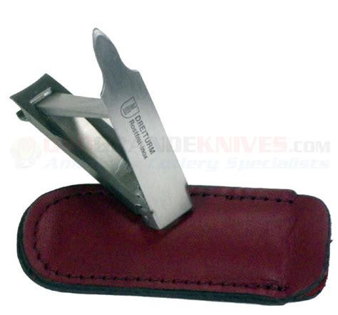 tactical nail clippers dreiturm nail clipper in leather inox germany 505