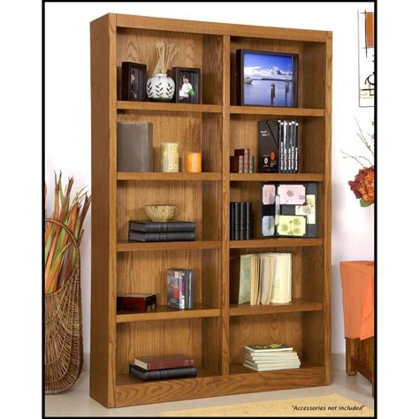 10 Wide Bookcase Concepts In Wood Midas Wide 10 Shelf Bookcase In