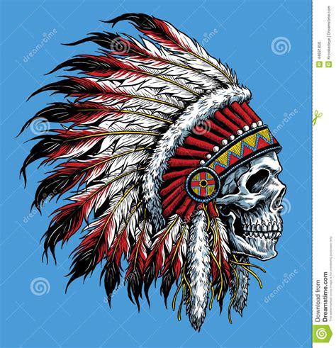 indian skull vector illustration stock vector image