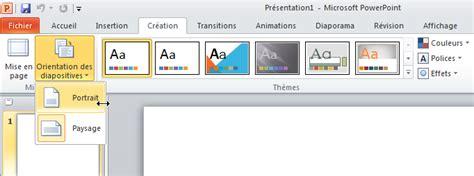 portrait layout in powerpoint 2013 changer l orientation d une diapositive dans powerpoint
