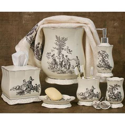 Toile Bathroom Accessories Toile Kitchen Accessories Antoinette Bath Accessories