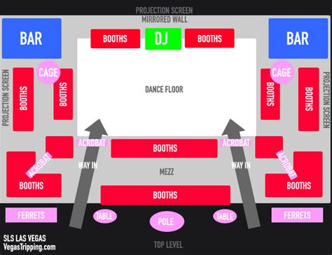 floorplan dj sls las vegas sayers club unveiled vegastripping