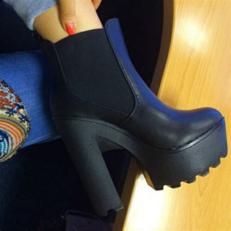 Boots Dg 76 shoes chelsea boots chelsea high heels black boots