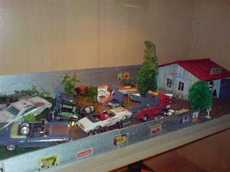 Rak Dinding Diorama Rc Skala 1 10 1 10 bilskrot i skala 1 43 diorama modellbygge ifokus