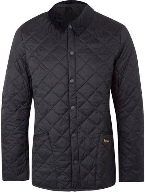 Mens Barbour Heritage Liddesdale Quilted Jacket by Barbour Black Heritage Liddesdale Quilted Jacket In Black