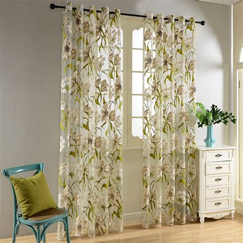 Tropical Print Curtains Tropical Flower Window Curtains Curtain Menzilperde Net