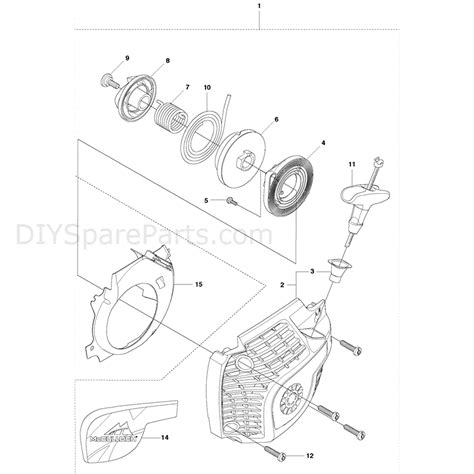 mcculloch parts diagram mcculloch cs410 2011 parts diagram page 14