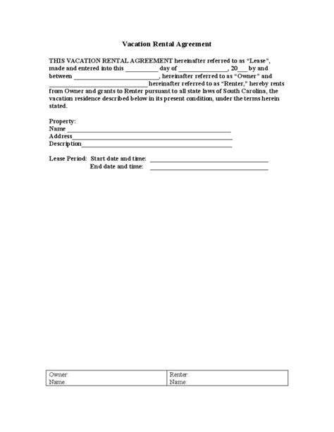 trailer rental agreement template sle vacation rental agreement template free