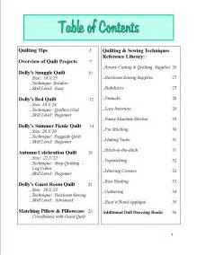 exle of table of contents pictures to pin on