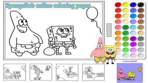 spongebob coloring pages free games spongebob online coloring pages for kids spongebob