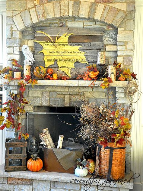 fall fireplace decorating ideas diy fall mantel decor ideas to inspire landeelu