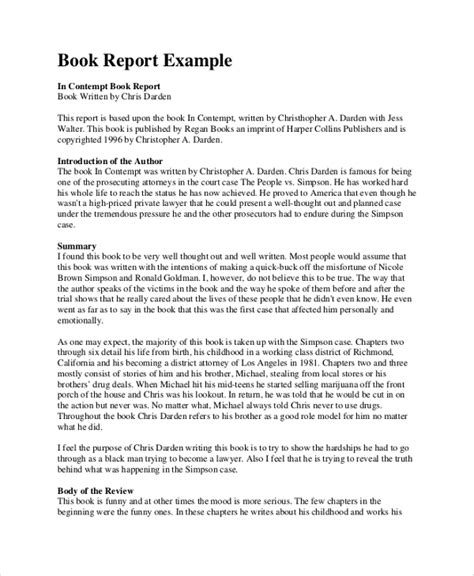 how to write a great book report sle book report 8 documents in pdf word
