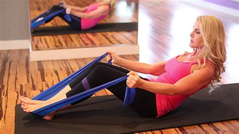 trunk thera band exercises fitness exercises