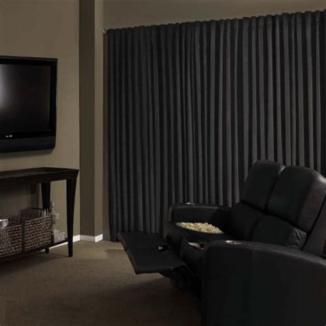 soundproof curtains for home theater best blackout curtains for home theaters 187 soundproofing tips
