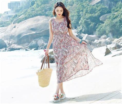 Baju Dress Wanita Leaf Dress jual ready dress maxi longdress rok pantai baju