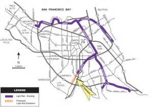 San Jose Vta Map by Vasona Light Rail Extension Project Map