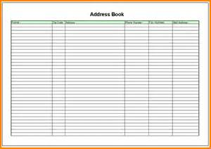 Address Book Template by Free Address Book Template 5 Address Book Template