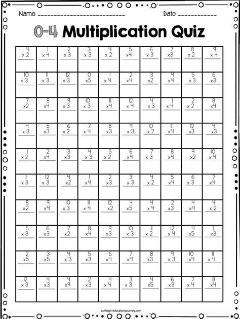 printable multiplication timed test worksheet free multiplication timed test 100 question and 20