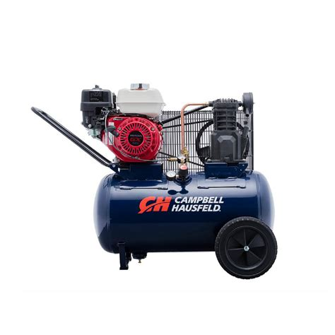 10 cfm portable air compressor cbell hausfeld 20 gal horizontal gas single stage 10