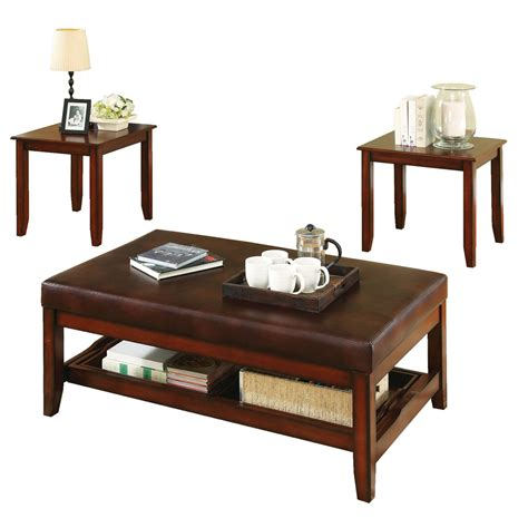 cherry wood coffee table sets steve silver brewster rectangle cherry wood 3 coffee