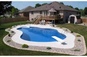 inground pool ideas in ground pool back yard pinterest
