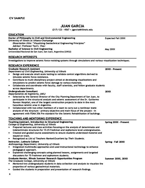 Resume Templates Tips Curriculum Vitae Tips And Sles Free