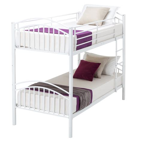 Three Person Bunk Bed Modern 3ft White Single Metal Bunk Bed Frame 2 Person For Children Ebay