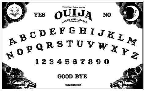 printable a4 ouija board printable ouija board halloween sideshow pinterest